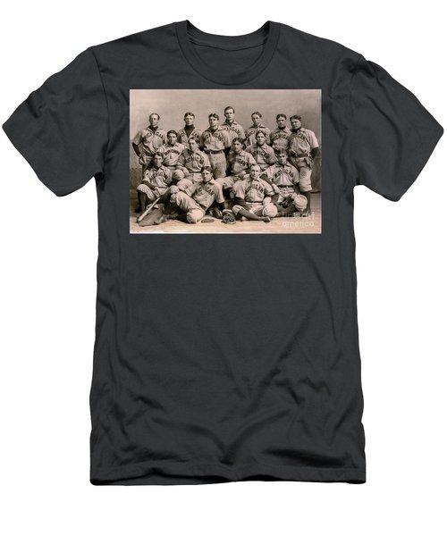 1896 Michigan Baseball Team Men's T-Shirt (Athletic Fit)