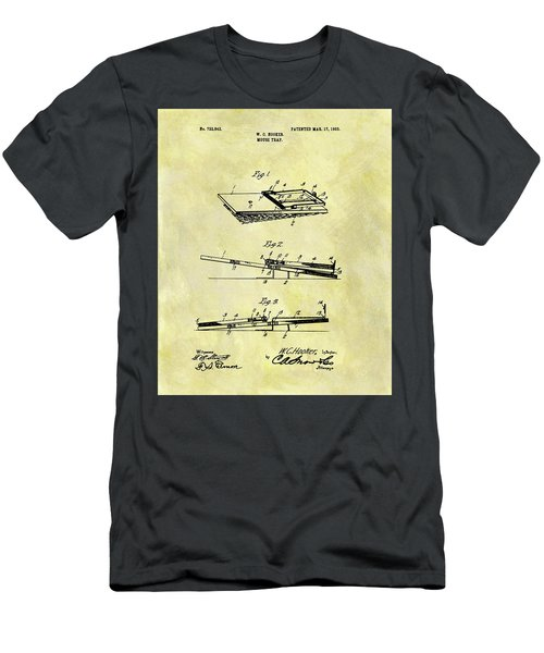 Men's T-Shirt (Slim Fit) featuring the mixed media 1903 Mouse Trap Patent by Dan Sproul
