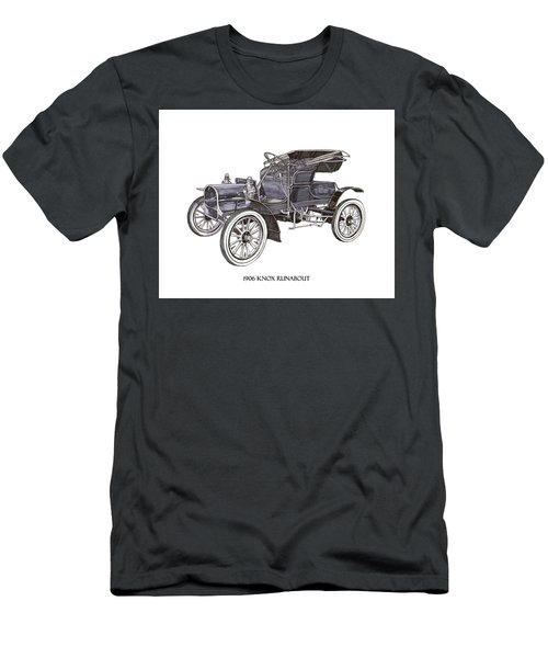 Men's T-Shirt (Slim Fit) featuring the drawing 1906 Knox Model F 3 Surry by Jack Pumphrey