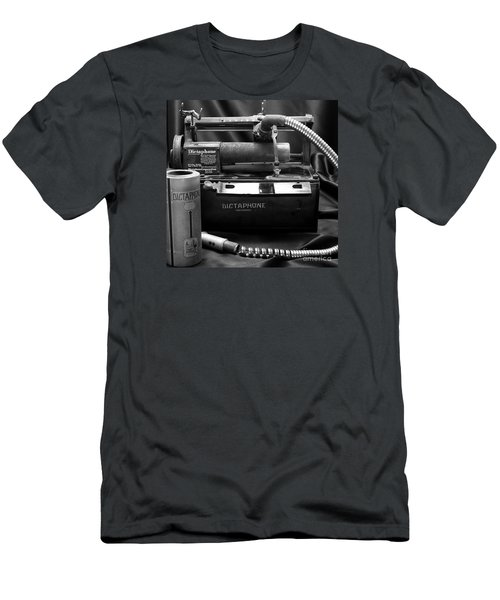 Men's T-Shirt (Slim Fit) featuring the photograph 1912 Dictaphone  by Ricky L Jones