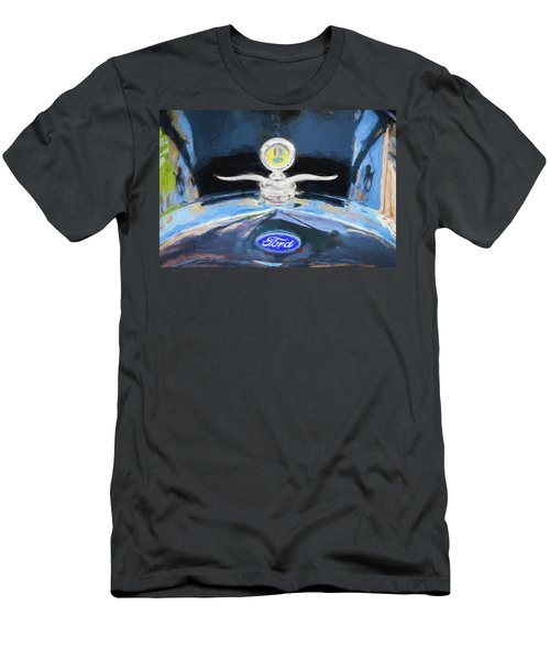 1929 Ford Model A Hood Ornament Painted Men's T-Shirt (Slim Fit) by Rich Franco
