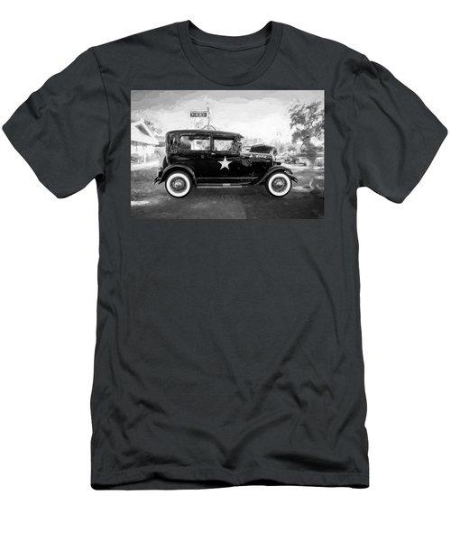 1929 Ford Model A Tudor Police Sedan Bw Men's T-Shirt (Athletic Fit)