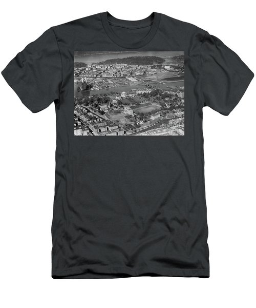 1930's Northern Manhattan Aerial  Men's T-Shirt (Slim Fit) by Cole Thompson