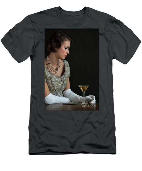 1930s Woman With A Cocktail Glass Men's T-Shirt (Athletic Fit)