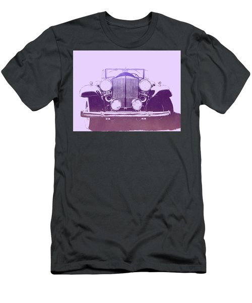 1932 Packard Pop Art Violet Gradient Men's T-Shirt (Athletic Fit)