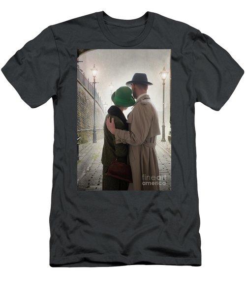 1940s Couple At Dusk  Men's T-Shirt (Slim Fit) by Lee Avison