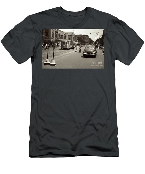 1940's Inwood Trolley Men's T-Shirt (Slim Fit) by Cole Thompson
