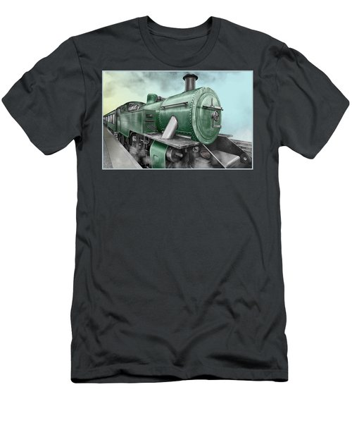 1940's Steam Train Men's T-Shirt (Athletic Fit)