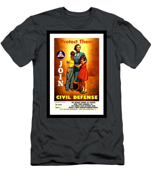 1942 Civil Defense Poster By Charles Coiner Men's T-Shirt (Slim Fit) by Peter Gumaer Ogden Collection
