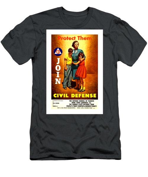 1942 Civil Defense Poster II By Charles Coiner Men's T-Shirt (Slim Fit) by Peter Gumaer Ogden Collection