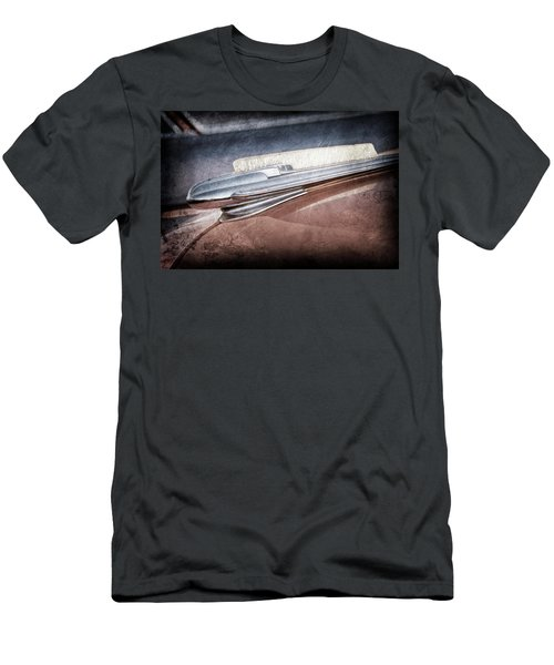 Men's T-Shirt (Slim Fit) featuring the photograph 1948 Chevrolet Hood Ornament -0587ac by Jill Reger