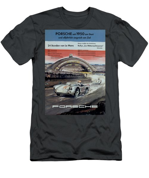 1950 Porsche Le Mans Poster Men's T-Shirt (Athletic Fit)