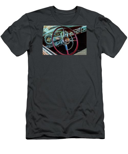Men's T-Shirt (Athletic Fit) featuring the photograph 1951 Hudson Hornet by M G Whittingham