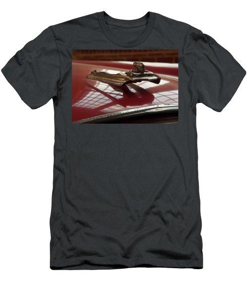 Men's T-Shirt (Athletic Fit) featuring the photograph 1955 Nash Ambassador Custom Hood Ornament by Chris Flees