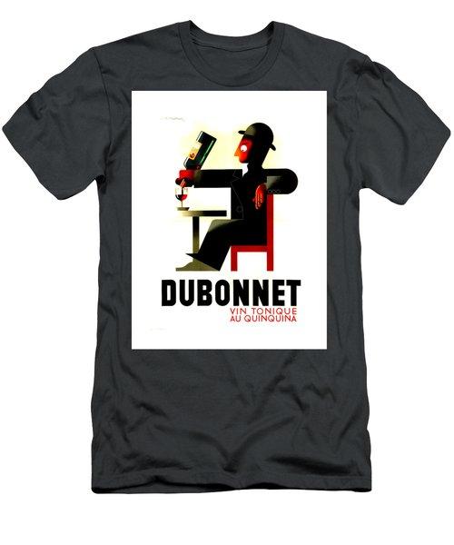 1956 Dubonnet Poster II By Adolphe Mouron Cassandre Men's T-Shirt (Slim Fit) by Peter Gumaer Ogden Collection