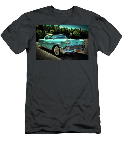 1958 Chevrolet Impala Men's T-Shirt (Slim Fit) by David Patterson