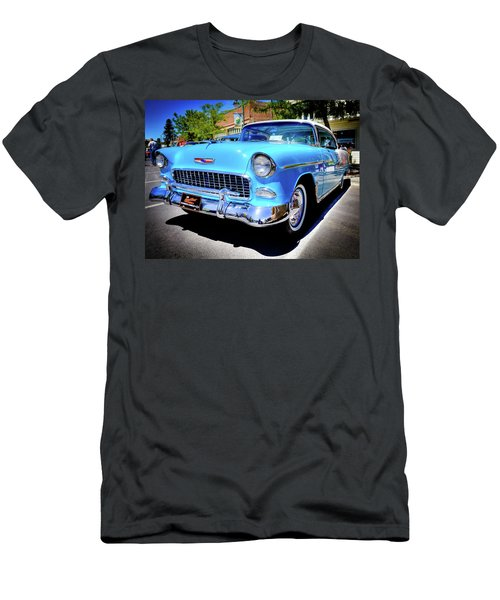 1955 Chevy Baby Blue Men's T-Shirt (Athletic Fit)