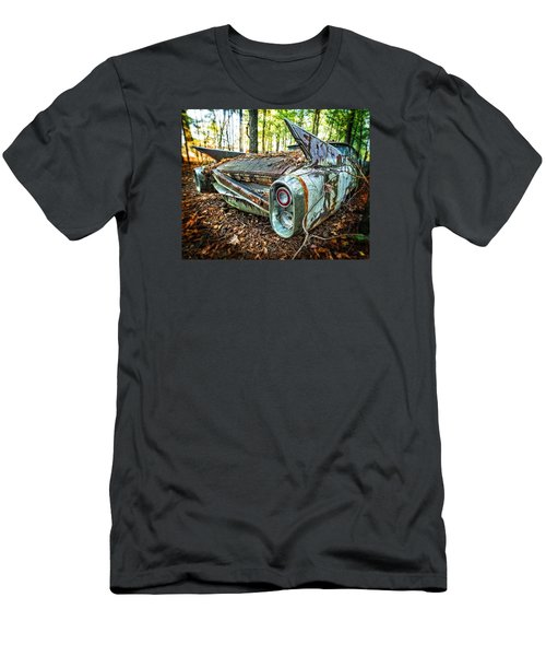 Men's T-Shirt (Slim Fit) featuring the photograph 1960 Cadillac At Rest by Alan Raasch