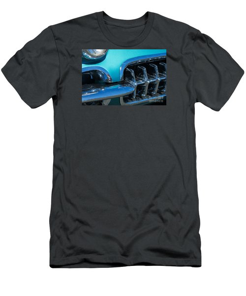 1960 Chevy Corvette Headlight And Grill Abstract Men's T-Shirt (Athletic Fit)