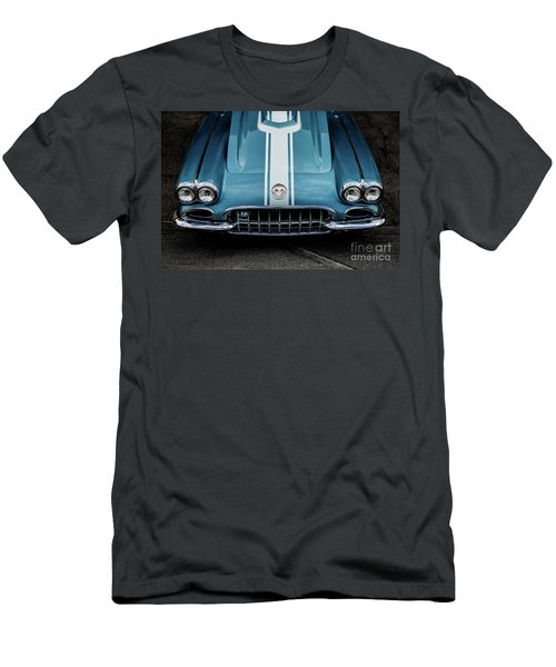Men's T-Shirt (Slim Fit) featuring the photograph 1960 Corvette by M G Whittingham
