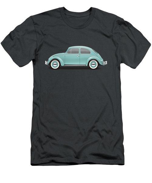 1961 Volkswagen Deluxe Sedan - Turquoise Men's T-Shirt (Slim Fit) by Ed Jackson