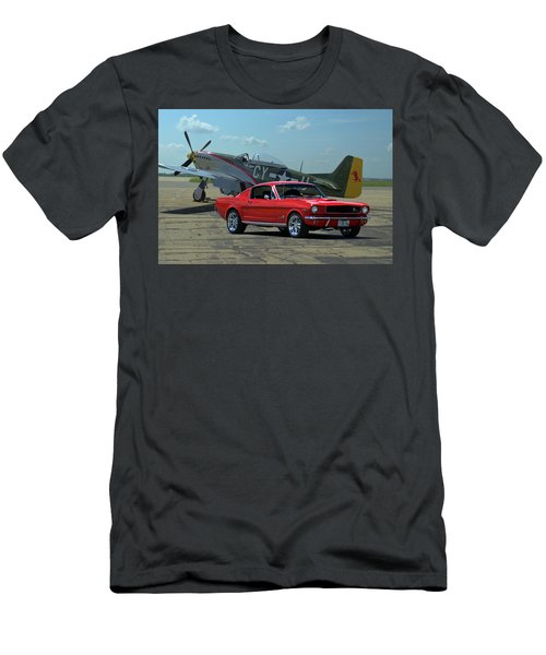 1965 Mustang Fastback And P51 Mustang Men's T-Shirt (Athletic Fit)