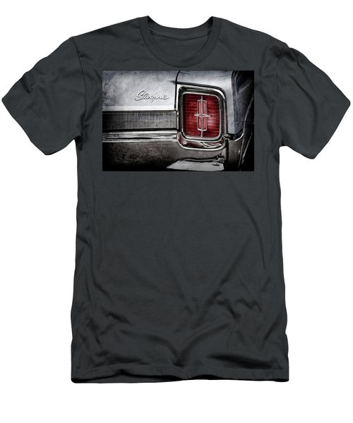 Men's T-Shirt (Slim Fit) featuring the photograph 1965 Oldsmobile Starfire Taillight Emblem -0212ac by Jill Reger