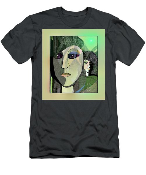 Men's T-Shirt (Slim Fit) featuring the digital art 1968 - A Dolls Head by Irmgard Schoendorf Welch