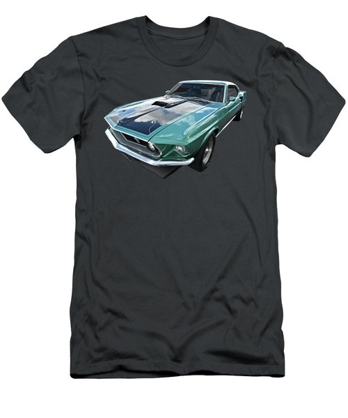 1969 Green 428 Mach 1 Cobra Jet Ford Mustang Men's T-Shirt (Athletic Fit)