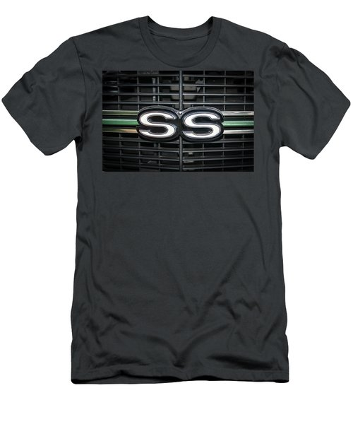 Men's T-Shirt (Athletic Fit) featuring the photograph 1970 Chevelle Ss Grille by Guy Whiteley