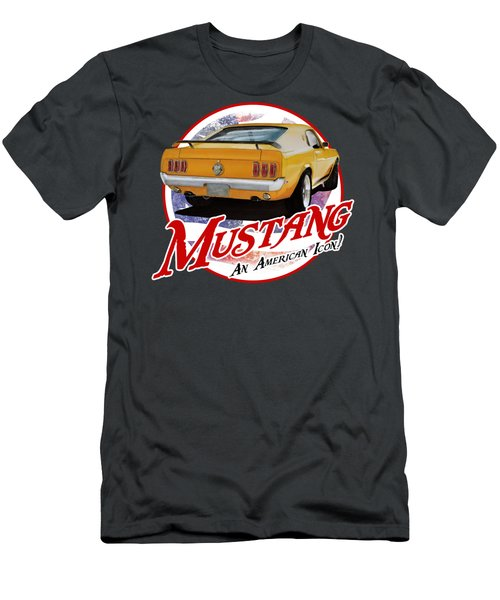 1970 Yellow Mustang Men's T-Shirt (Athletic Fit)