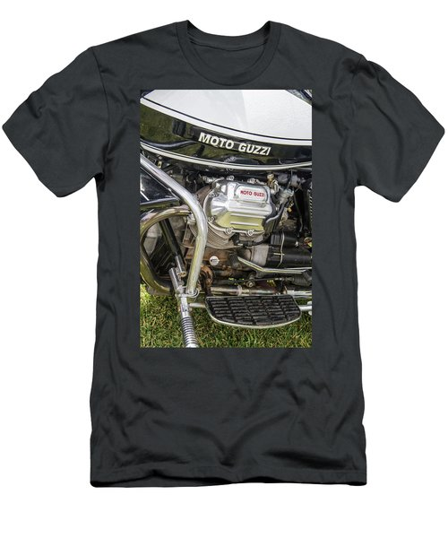 Men's T-Shirt (Slim Fit) featuring the photograph 1976 Moto Guzzi V1000 Convert by Roger Mullenhour
