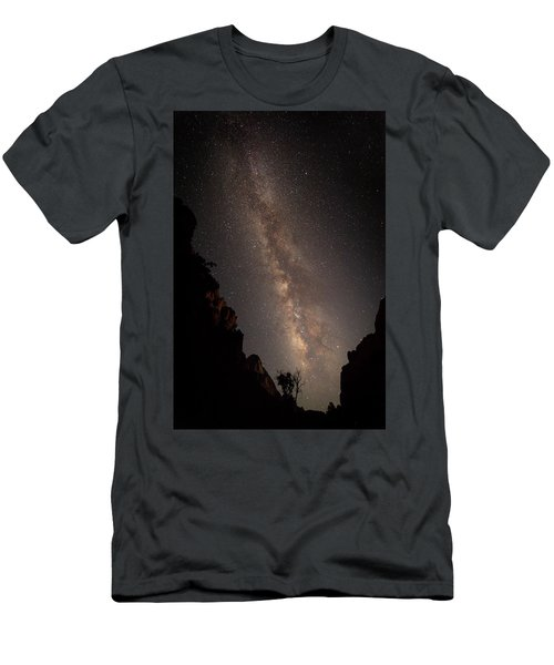 A Dark Night In Zion Canyon Men's T-Shirt (Athletic Fit)