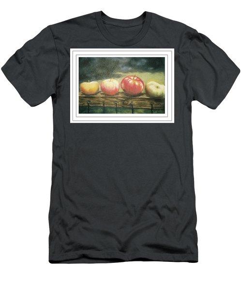 Apples On A Rail Men's T-Shirt (Slim Fit) by Harriett Masterson