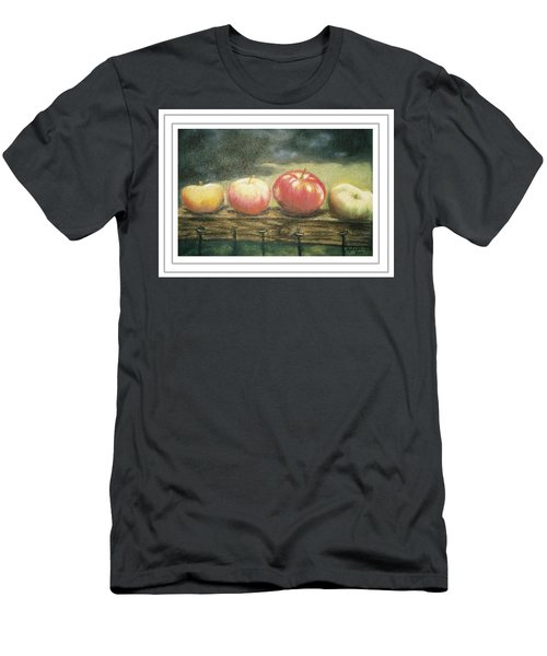 Apples On A Rail Men's T-Shirt (Athletic Fit)