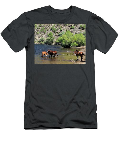 Arizona Wild Horses Men's T-Shirt (Athletic Fit)