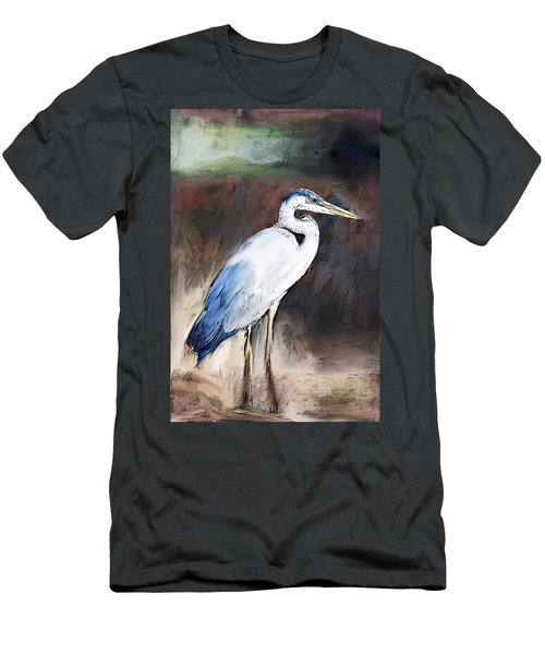 Blue Heron II  Men's T-Shirt (Athletic Fit)