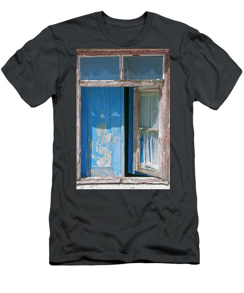 Blue Window Men's T-Shirt (Athletic Fit)