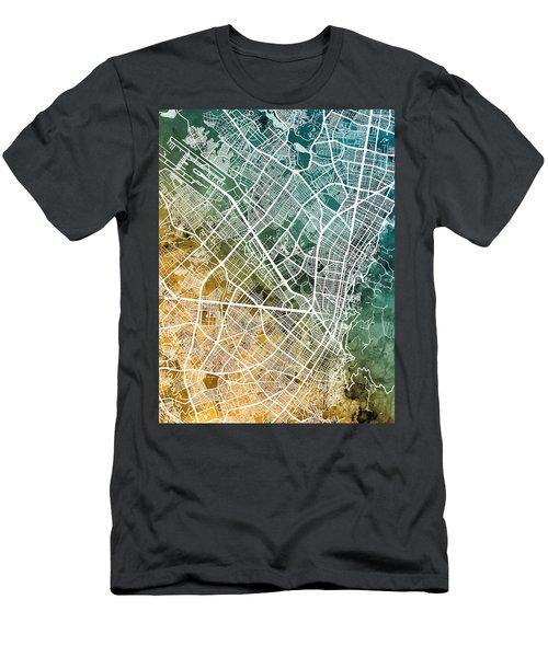Bogota Colombia City Map Men's T-Shirt (Athletic Fit)
