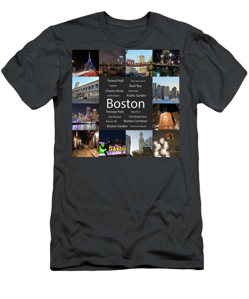 Boston Ma Collage Men's T-Shirt (Athletic Fit)
