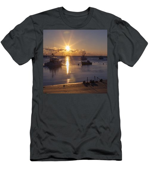 Men's T-Shirt (Slim Fit) featuring the photograph Chatham Sunrise by Charles Harden