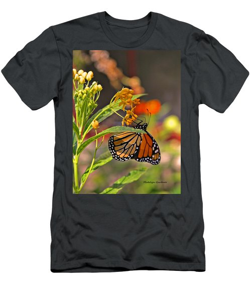 Clinging Butterfly Men's T-Shirt (Athletic Fit)