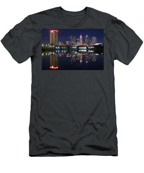 Columbus Ohio Men's T-Shirt (Slim Fit) by Frozen in Time Fine Art Photography