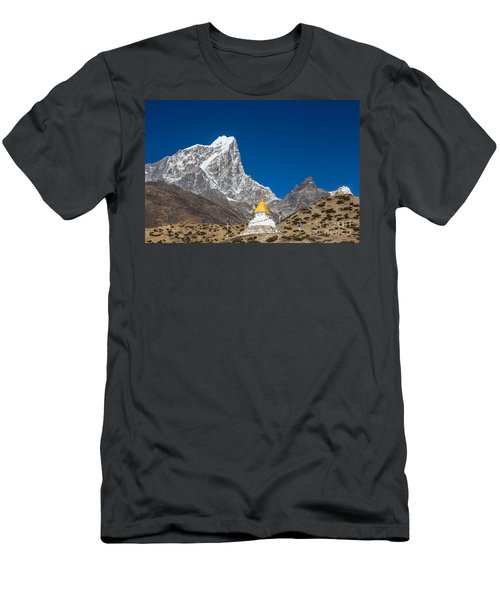 Dingboche Stupa In Nepal Men's T-Shirt (Athletic Fit)