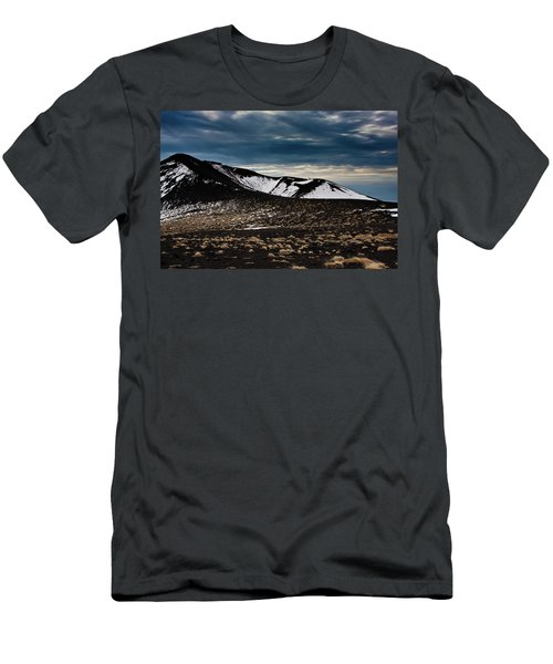 Men's T-Shirt (Slim Fit) featuring the photograph Etna, Red Mount Crater by Bruno Spagnolo