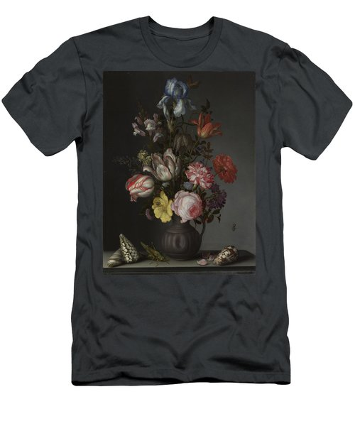 Flowers In A Vase With Shells And Insects Men's T-Shirt (Athletic Fit)