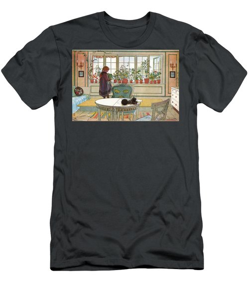 Flowers On The Windowsill Men's T-Shirt (Athletic Fit)