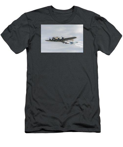 Flying Fortress Sally B Men's T-Shirt (Slim Fit) by Gary Eason