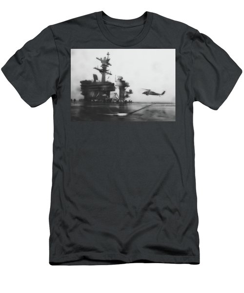 Foggy Landing - U S S Abraham Lincoln Men's T-Shirt (Athletic Fit)