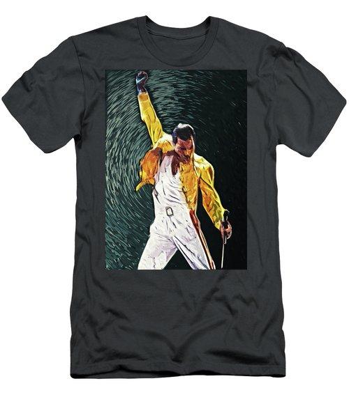 Freddie Mercury Men's T-Shirt (Slim Fit) by Taylan Apukovska